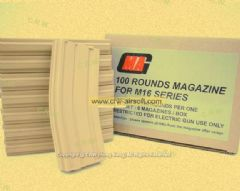 MAG 130rd Magazine for M4/M16 AEG (Sand, 8pcs)